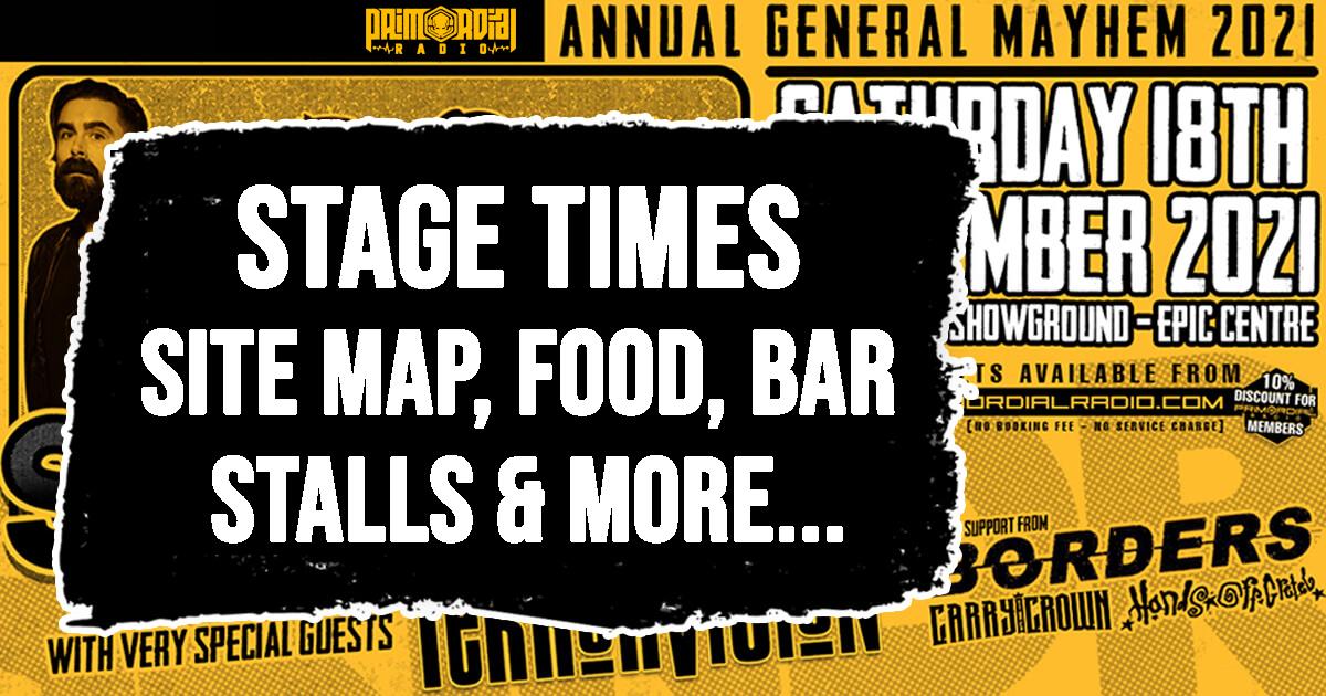 Primordial Radio Annual General Mayhem Stage Times Cover Image V2