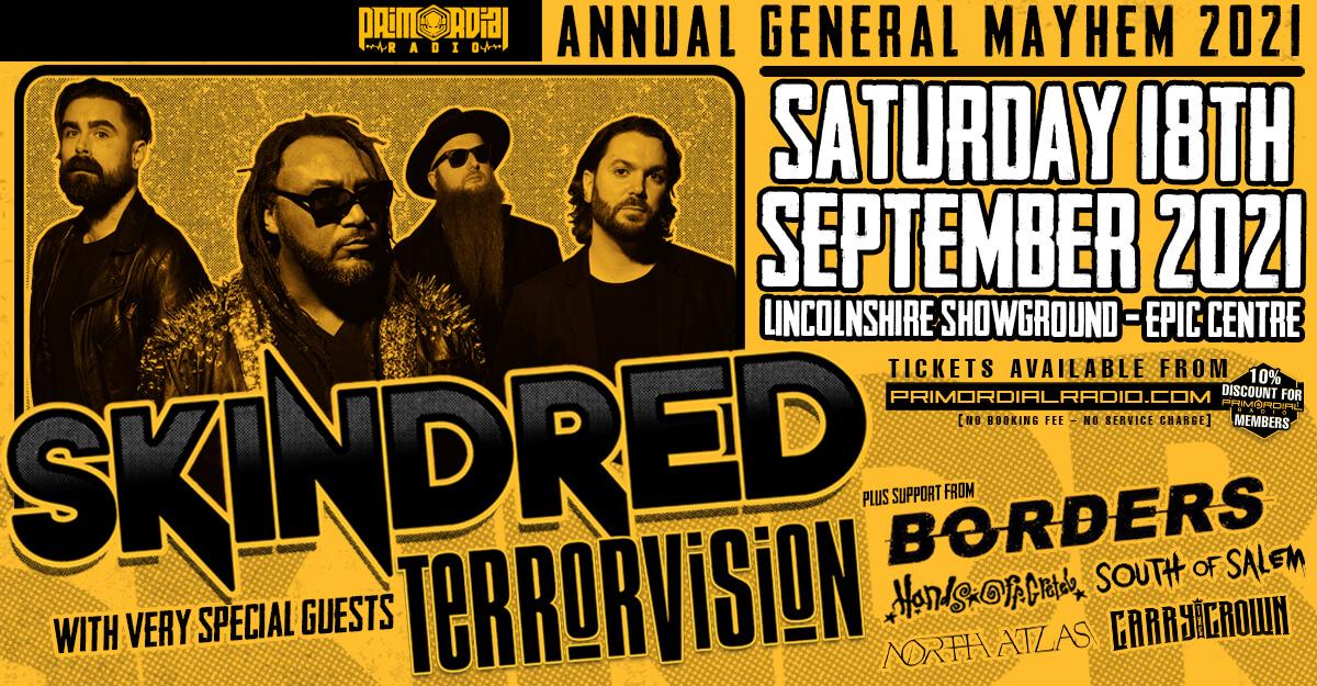 Primordial Radio Annual General Mayhem Tickets Artwork