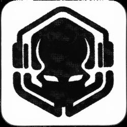 Black Drinks Coaster with Primordial Radio 2021 Logo