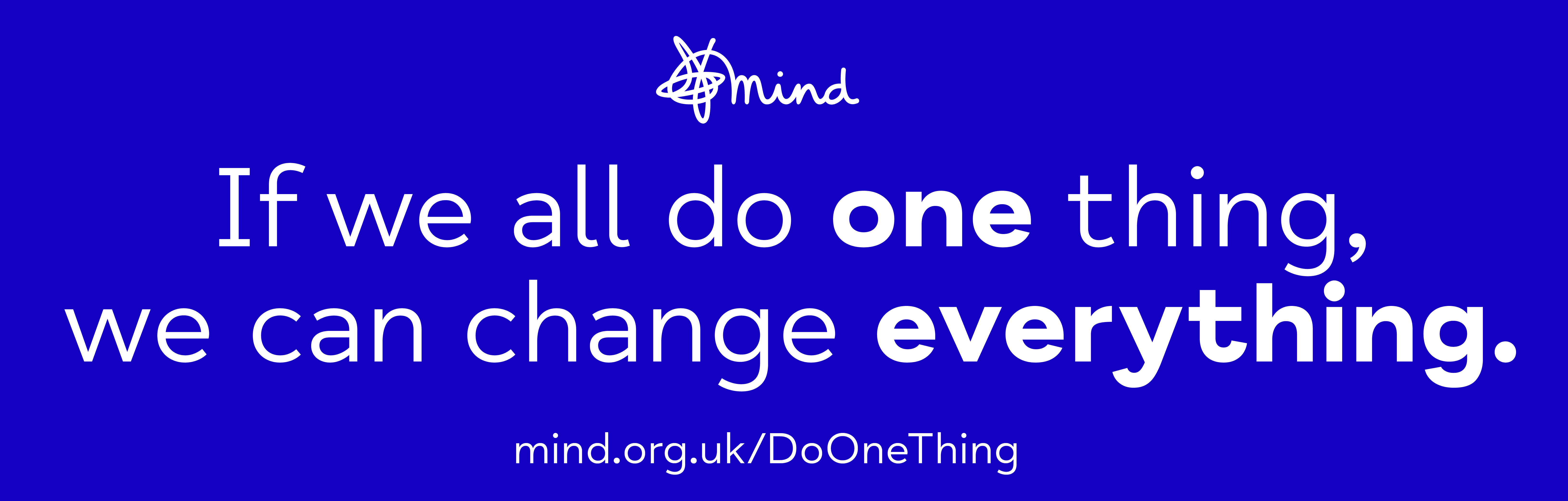 World Mental Health Day 2020 - Blue Do One Thing Logo